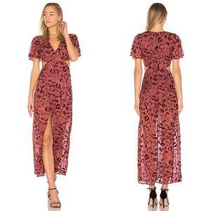 Lovers + Friends Tatum Sangria Floral Maxi Dress